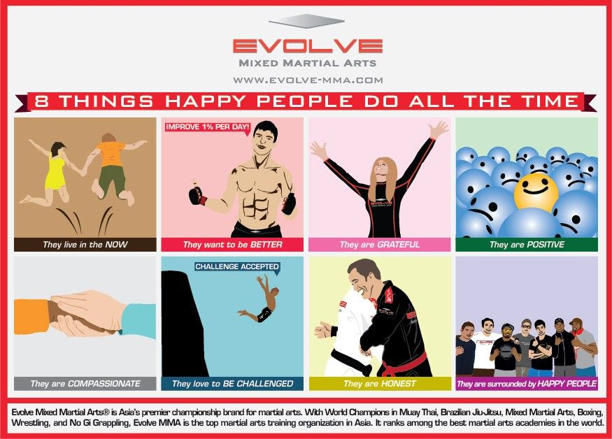 8 Things Happy People Do All The Time (Infographic)