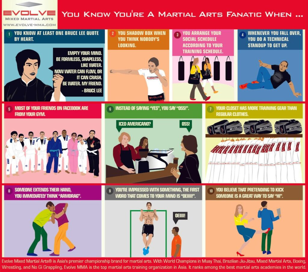 You Know You're A Martial Arts Fanatic When…. (Infographic)