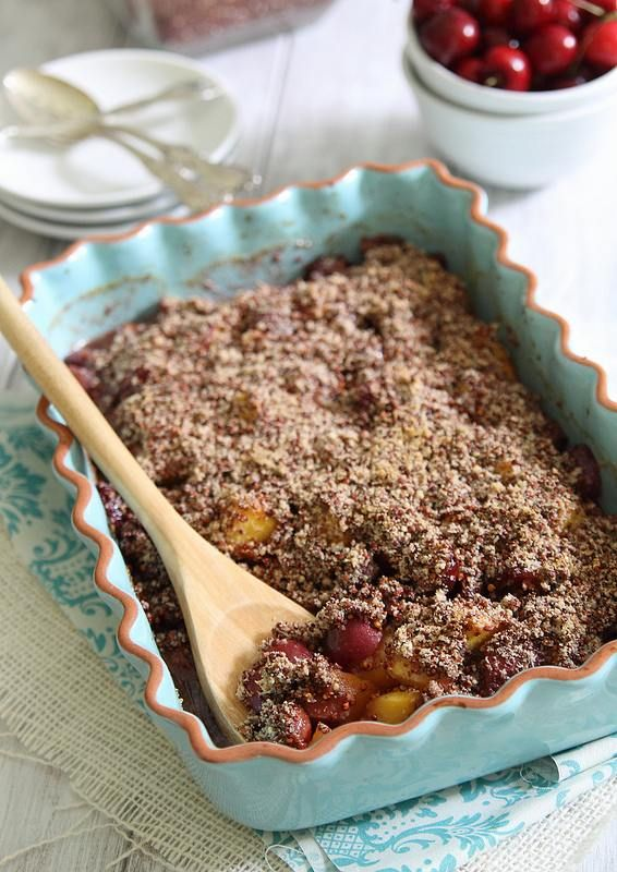 Peach-and-Cherry-Quinoa-Crumble