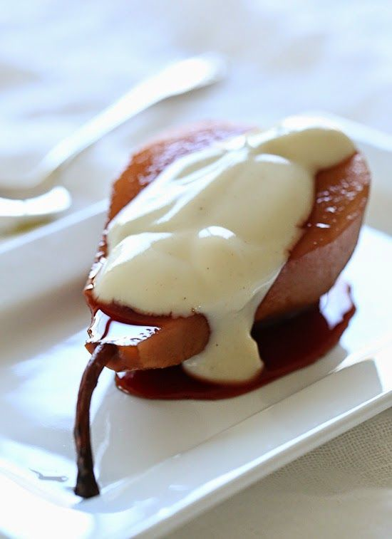 poached pears with yogurt-2