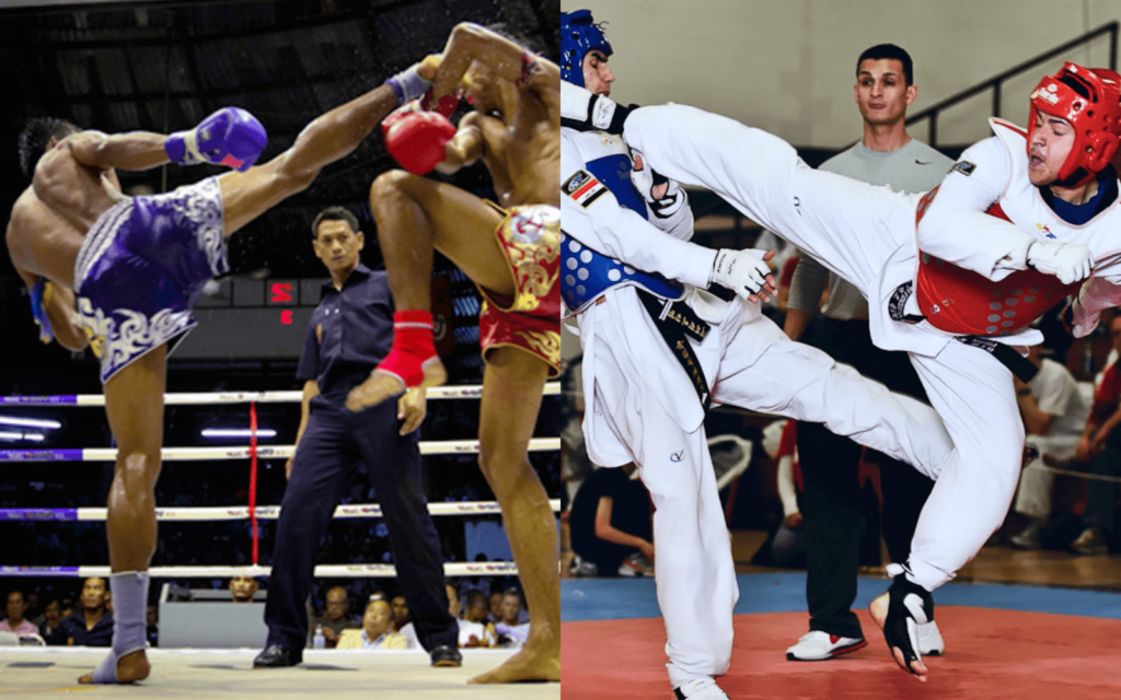 WATCH: Muay Thai Vs. Taekwondo (Videos)