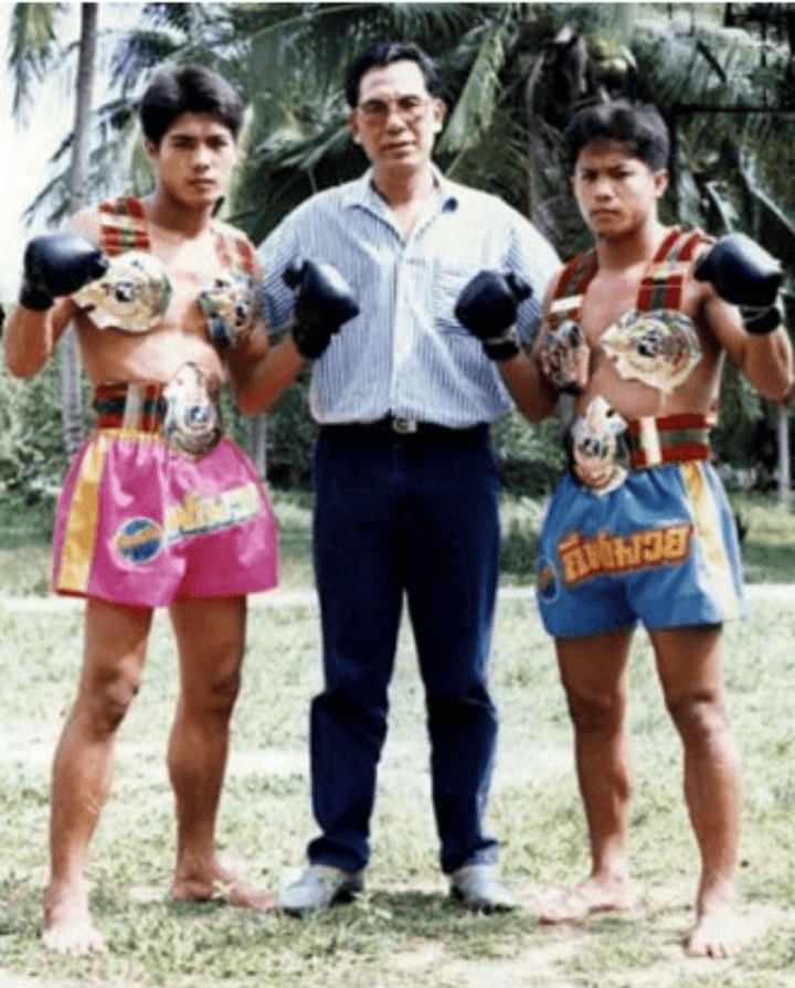 samart and kongtoranee with kru yodtong