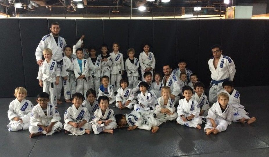 The BJJ World Champion Instructors and the rest of the Little Warriors!