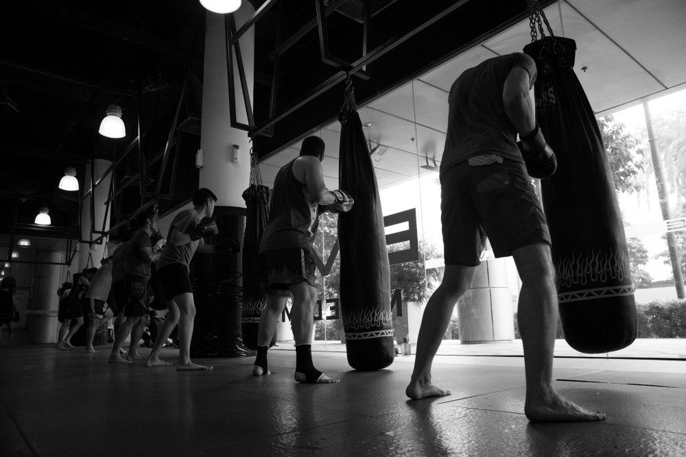 Training with a heavy bag helps improve your technique.