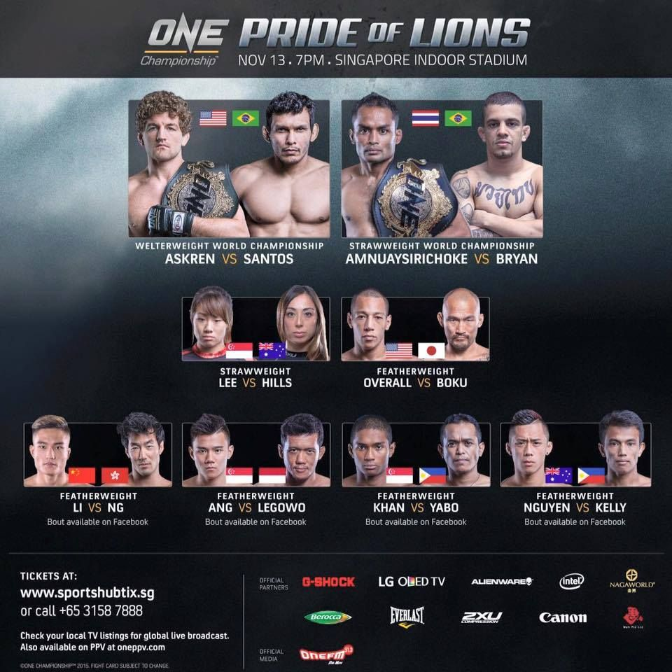 ONE-pride-of-lions fight card