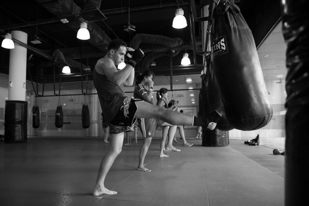 Bagwork is the fastest way to develop strength and coordination in Muay Thai.