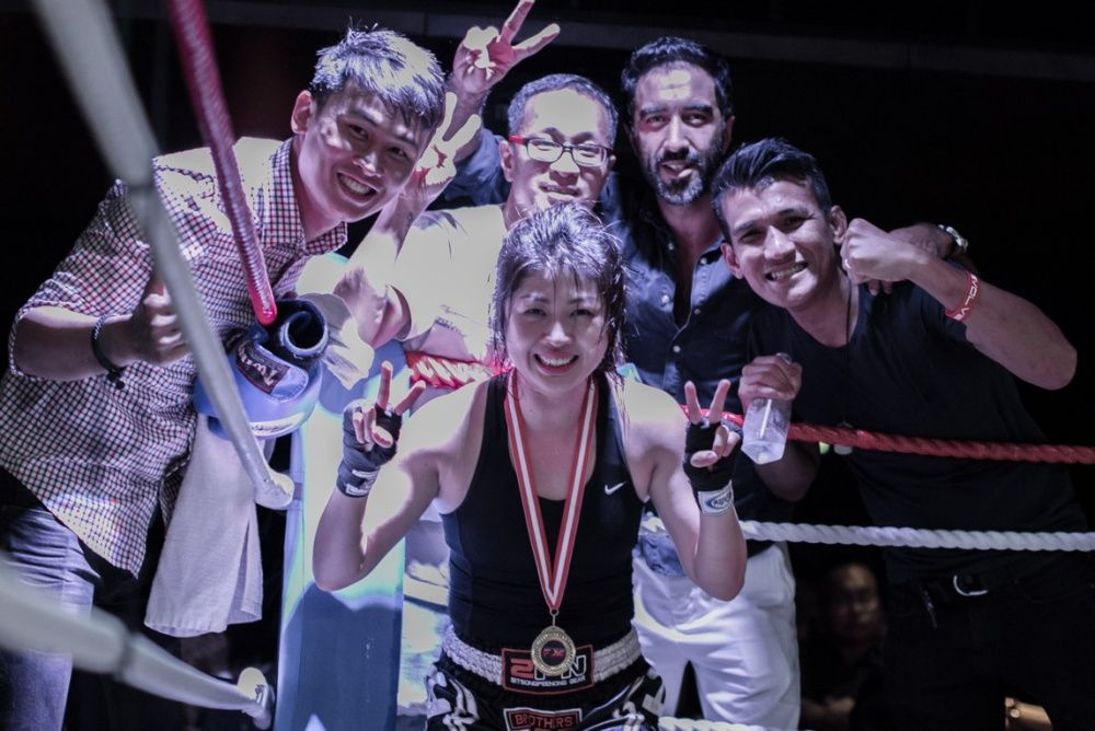 Evolve MMA Muay Thai Competition Team member Jane Tan takes home the gold!