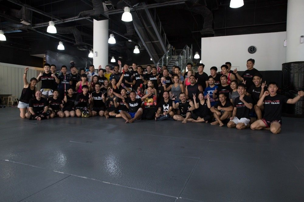 Just another awesome Muay Thai class at Evolve MMA!