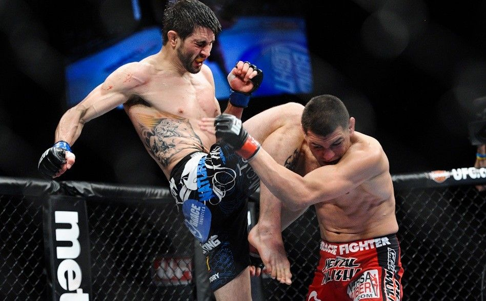 WATCH: 9 Of The Most Explosive Flying Knee Knockouts In MMA (Videos)