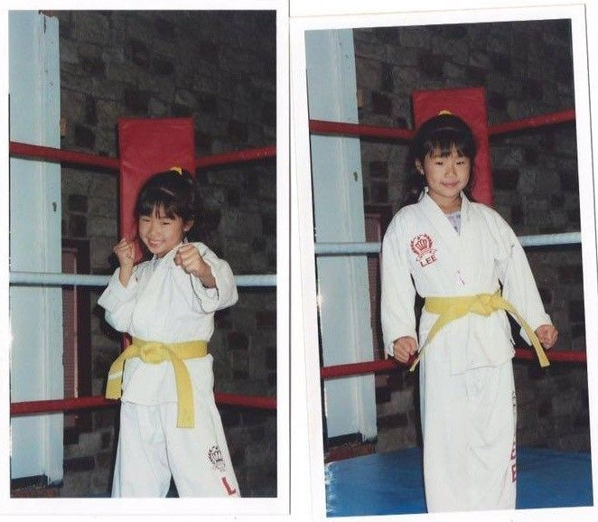 Angela started training martial arts at the tender age of 3 .