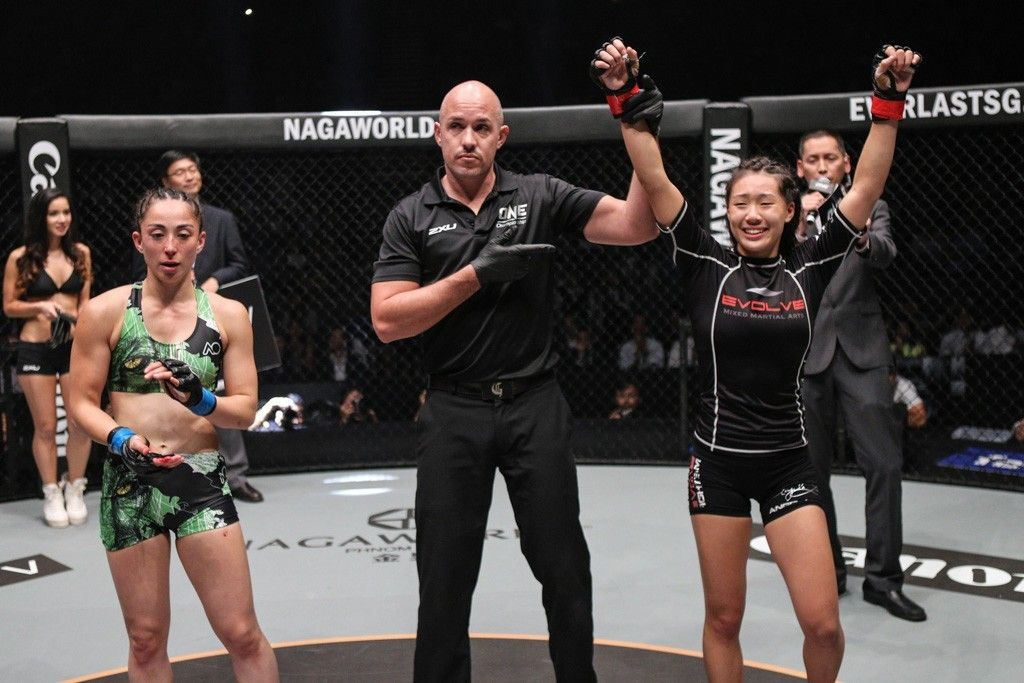 Singapore's Angela Lee takes the win over Natalie Gonzales Hills from the Philippines.