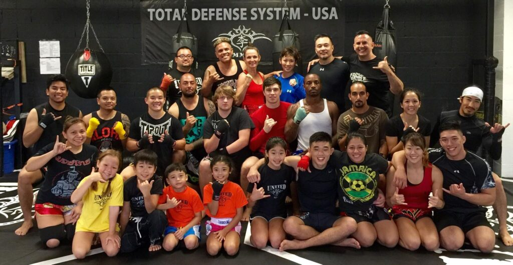 Angela and Christian at United MMA in Hawaii.
