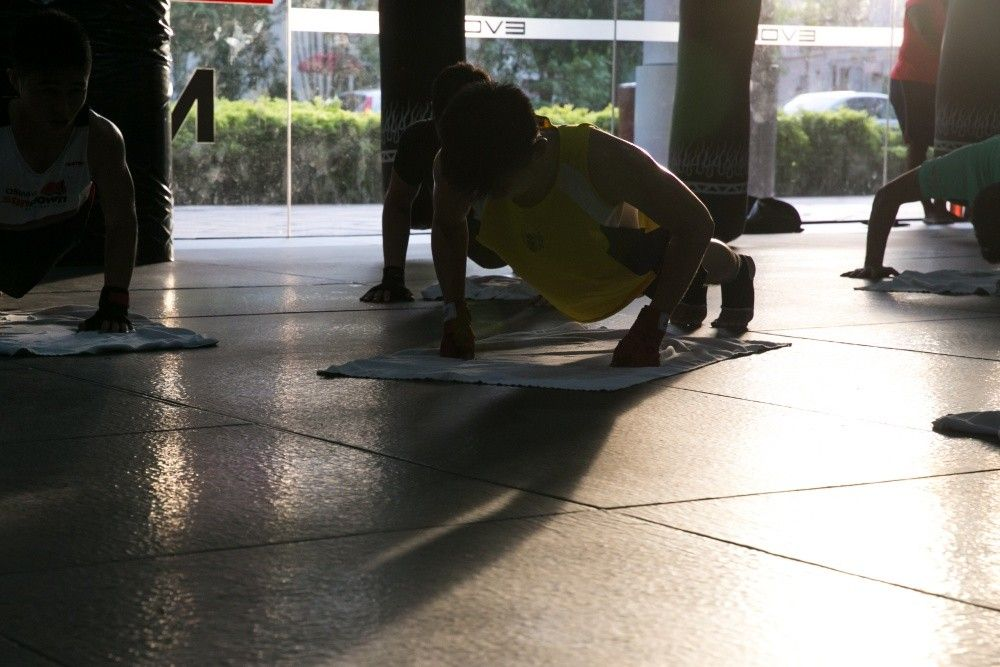 Push-ups are a great way to work on your strength and endurance at the same time.