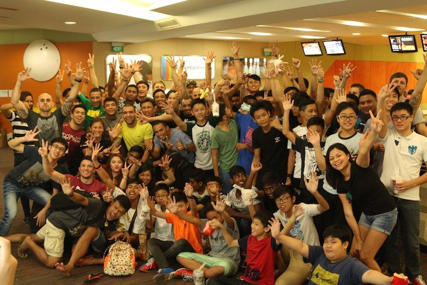 The Evolve Family having fun with the kids from BoysTown Home!