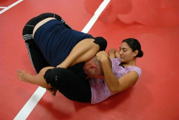 The triangle choke is one of the most effective choke holds.