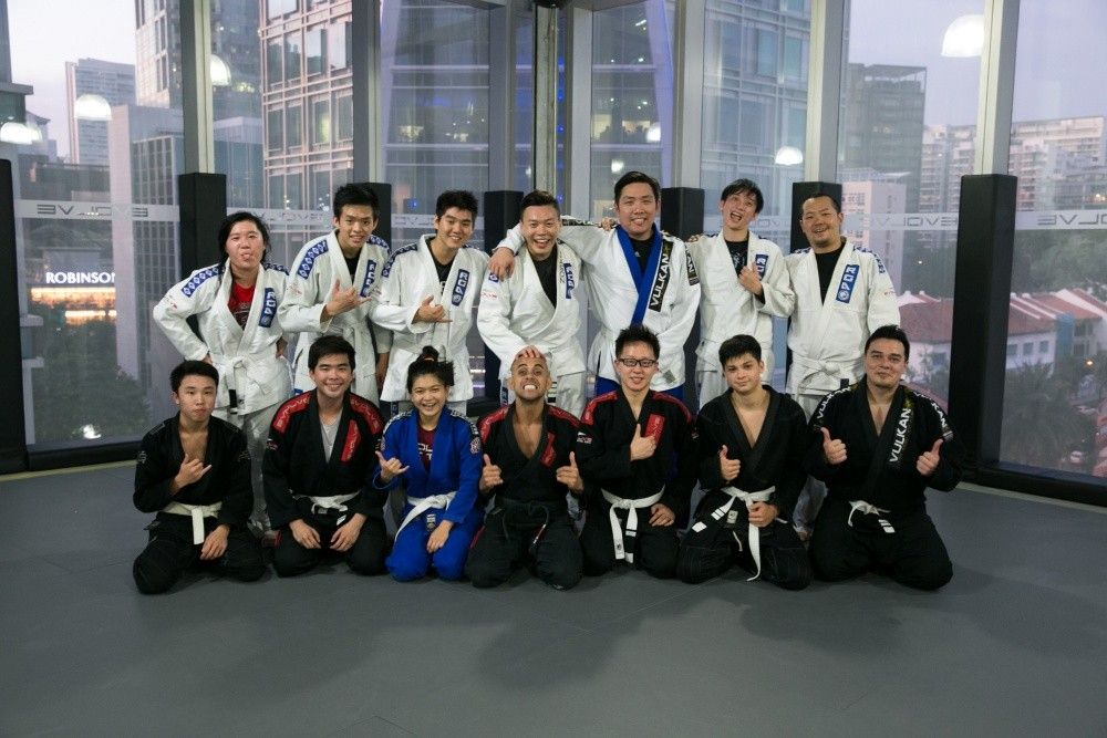 Students feeling great after a BJJ class!