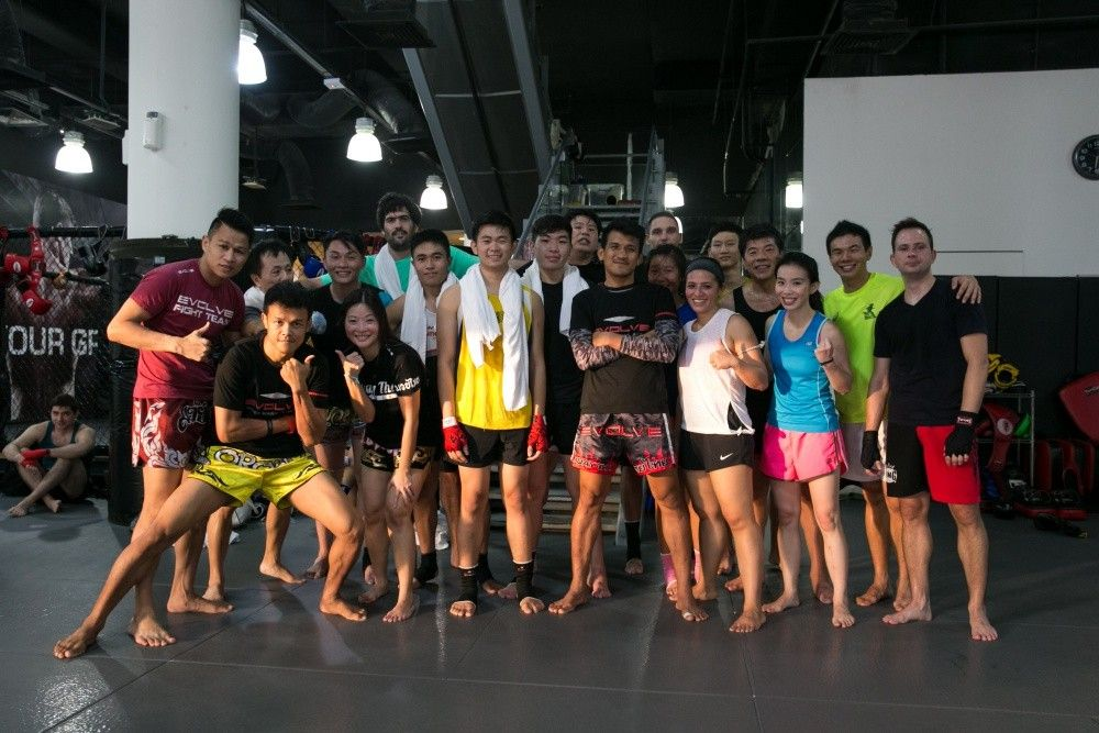 All smiles after a great Muay Thai class!