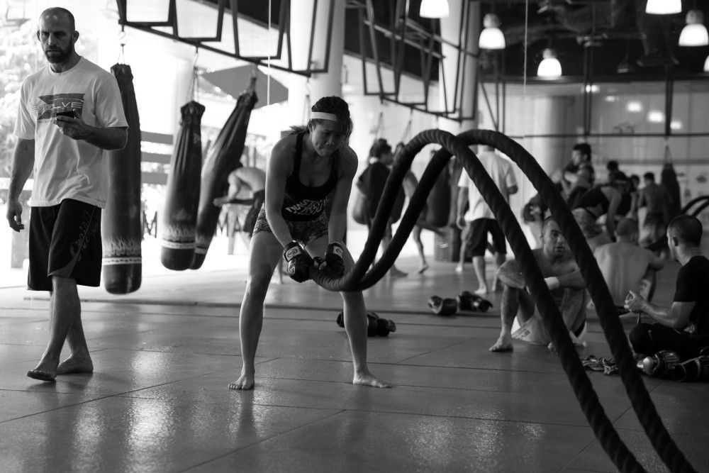 Heavy rope training builds up your endurance and strength.