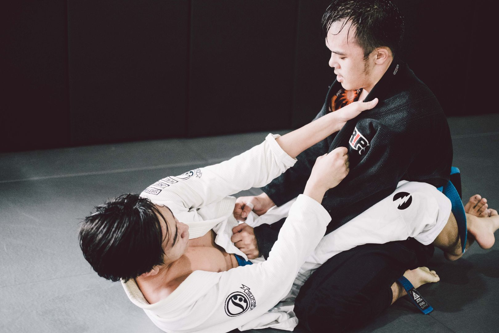 In BJJ, a smaller person can overcome a stronger, bigger opponent with good technique.