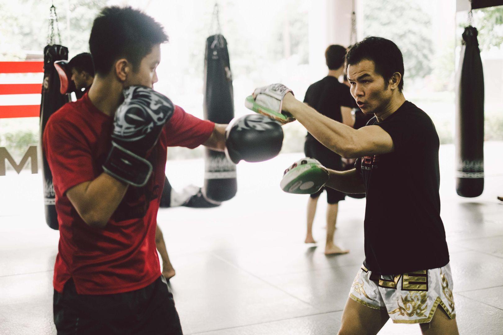 boxing at Evolve Far East Square