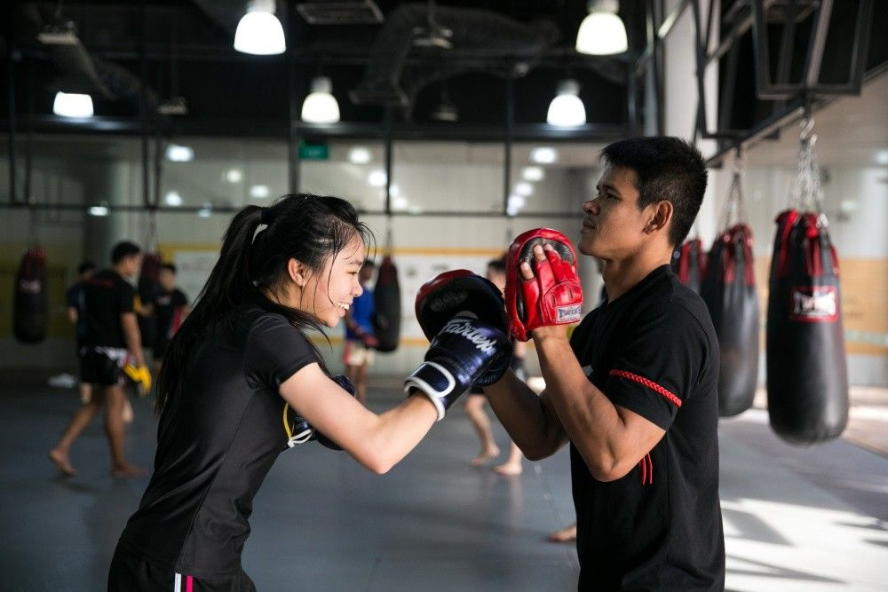 A 60 minute Muay Thai class can burn up to 1,000 calories.