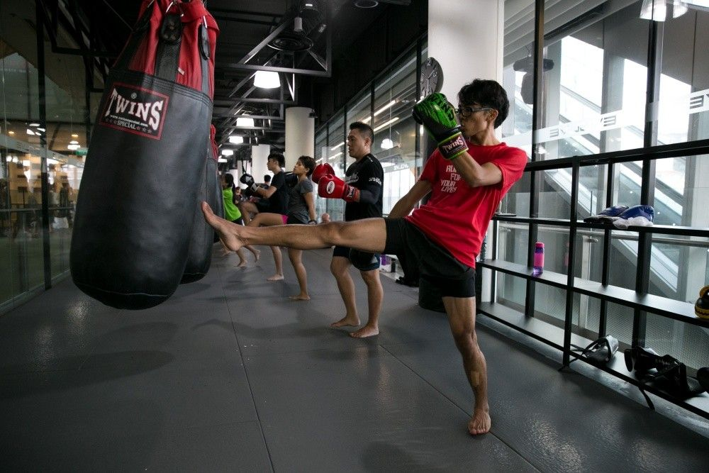 The push kick is an important strike in Muay Thai.