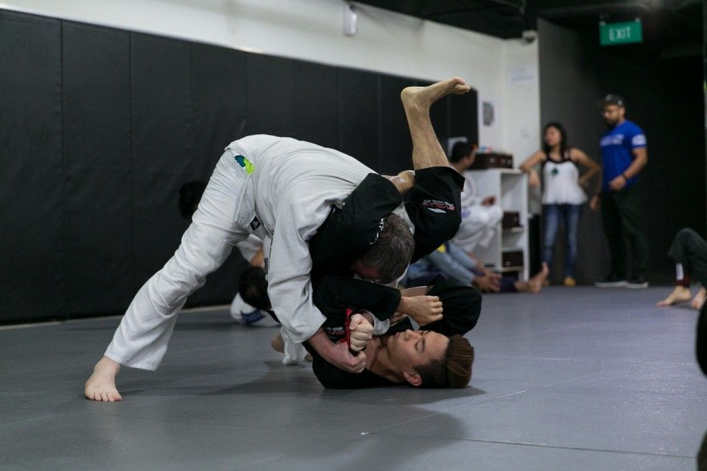 BJJ allows a smaller, weaker student to use leverage against a bigger and stronger opponent.