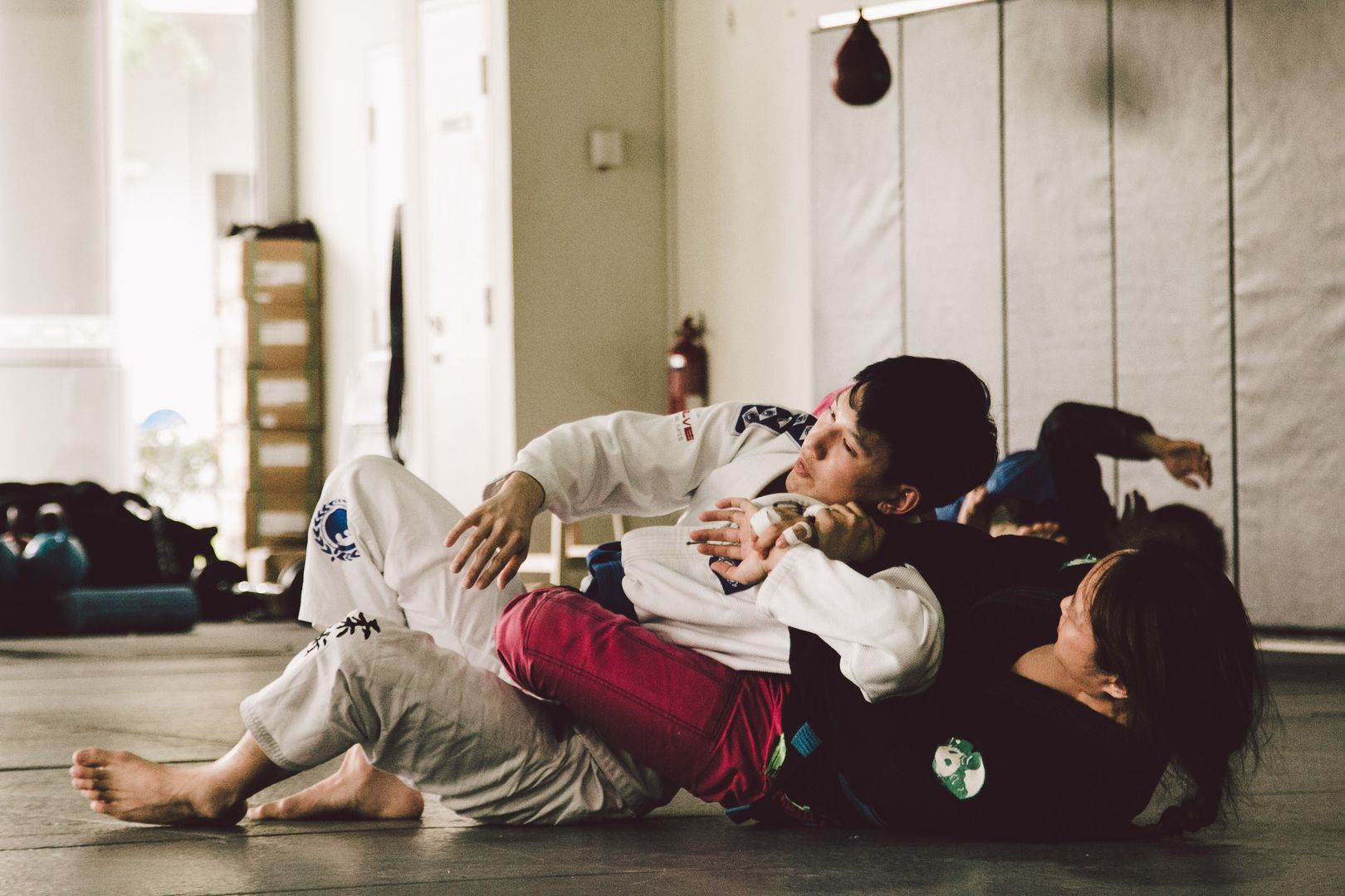BJJ enables a smaller person to overcome a stronger, bigger opponent.