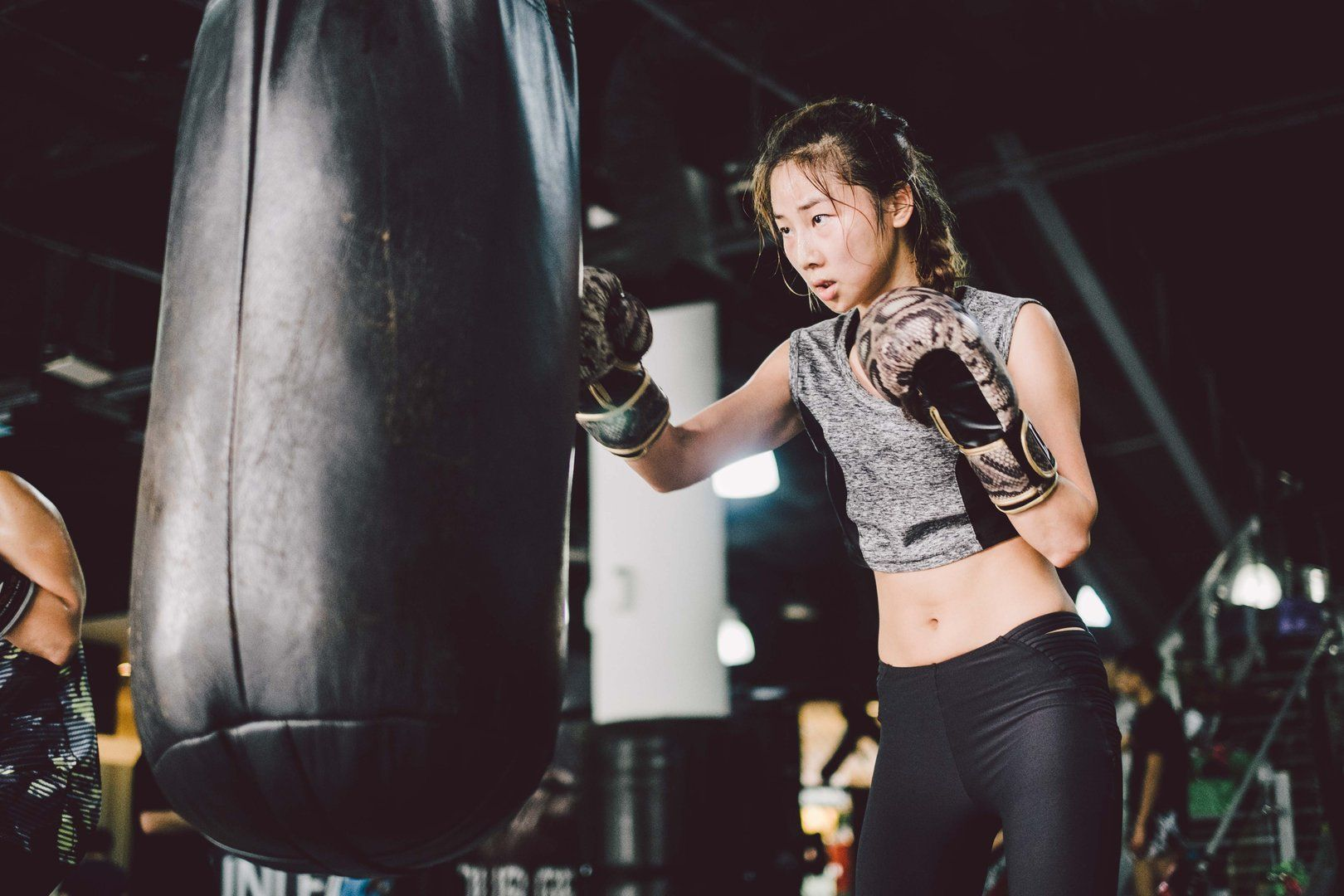 Training with a heavy bag develops efficient power.