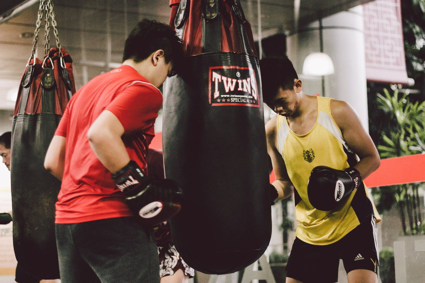 Training with a heavy bag helps improve your technique and coordination.