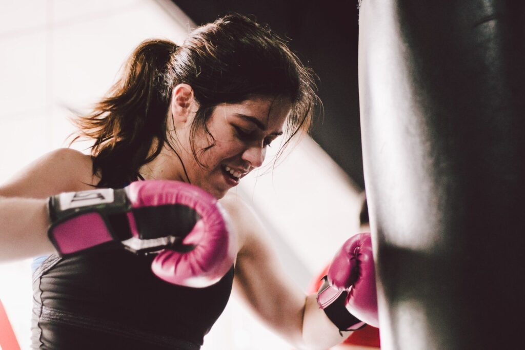 Boxing boosts your endorphin production, so you'd feel great after every training session!