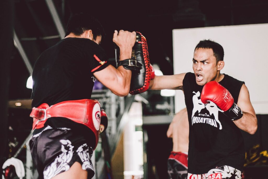 Muay Thai Sparring at Evolve MMA