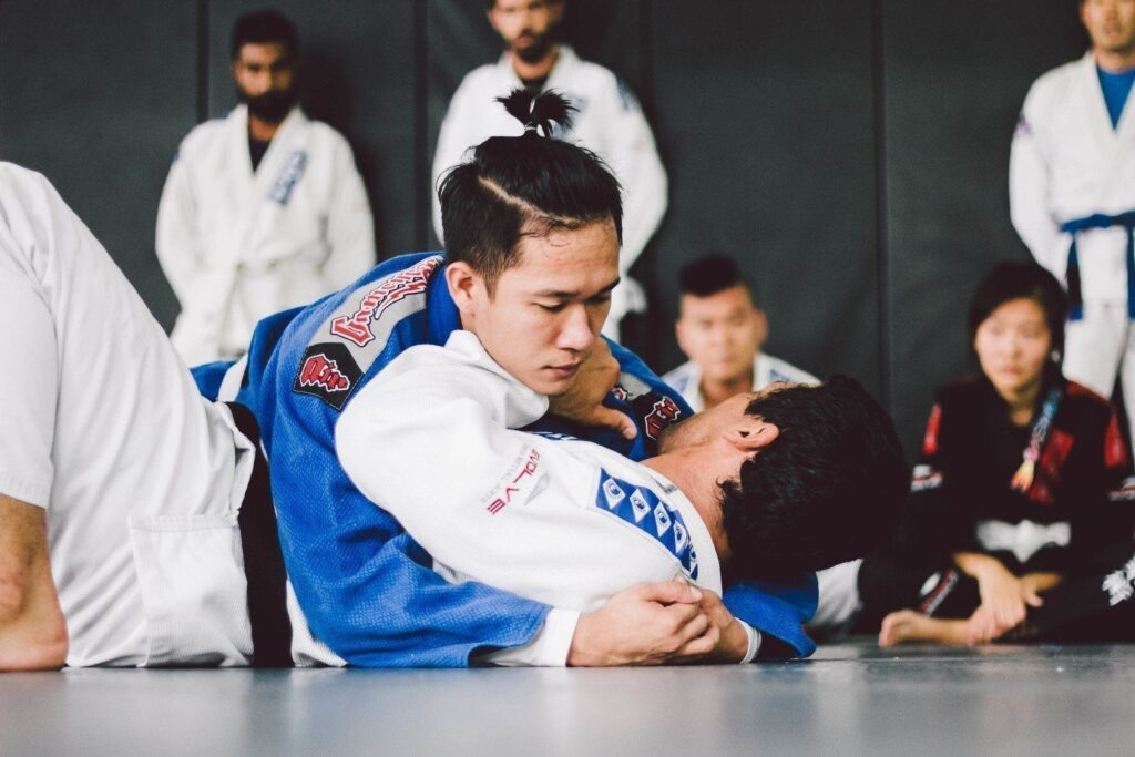 BJJ uses your body's various muscle groups, making it a great workout!