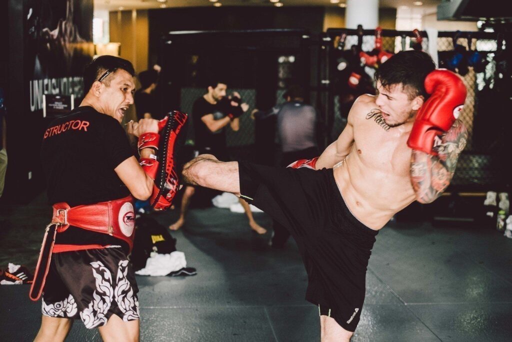 ONE Superstar Bruno Pucci trains at Evolve's Fighters Program.