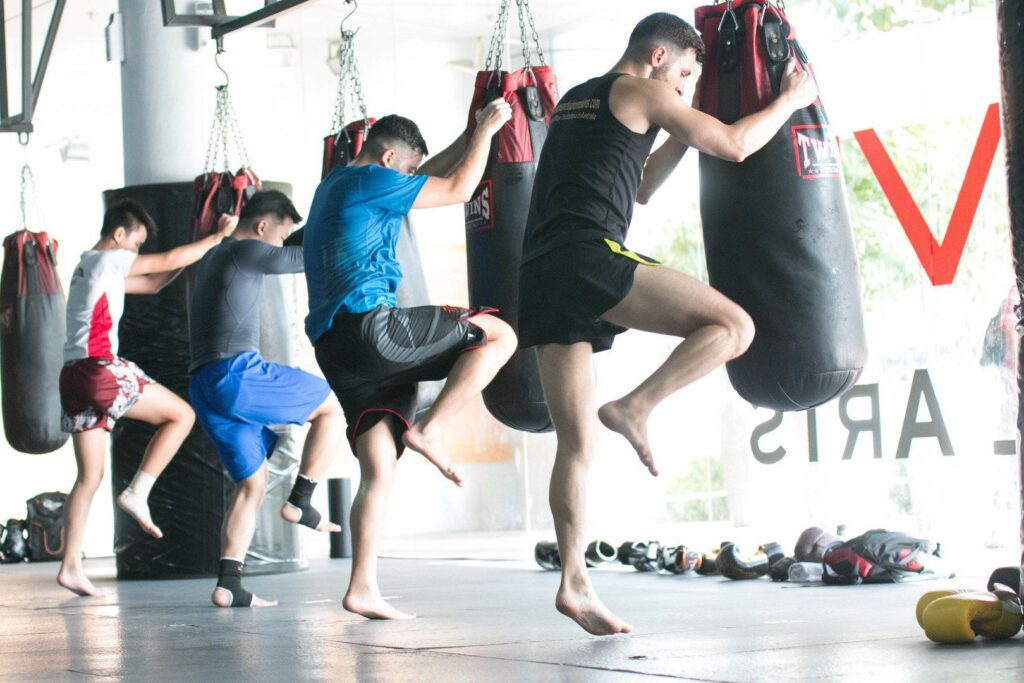 Training with a heavy bag improves your technique and co-ordination.