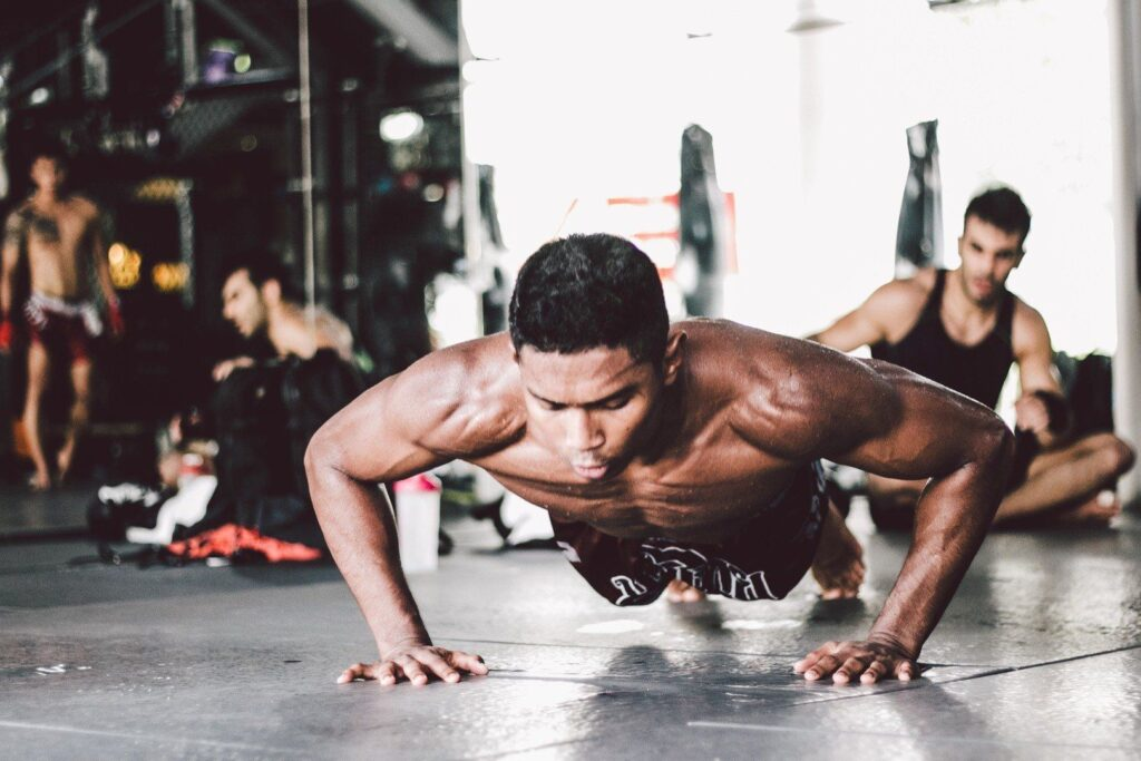 ONE Superstar Amir Khan 's favorite bodyweight exercise is a push-up.