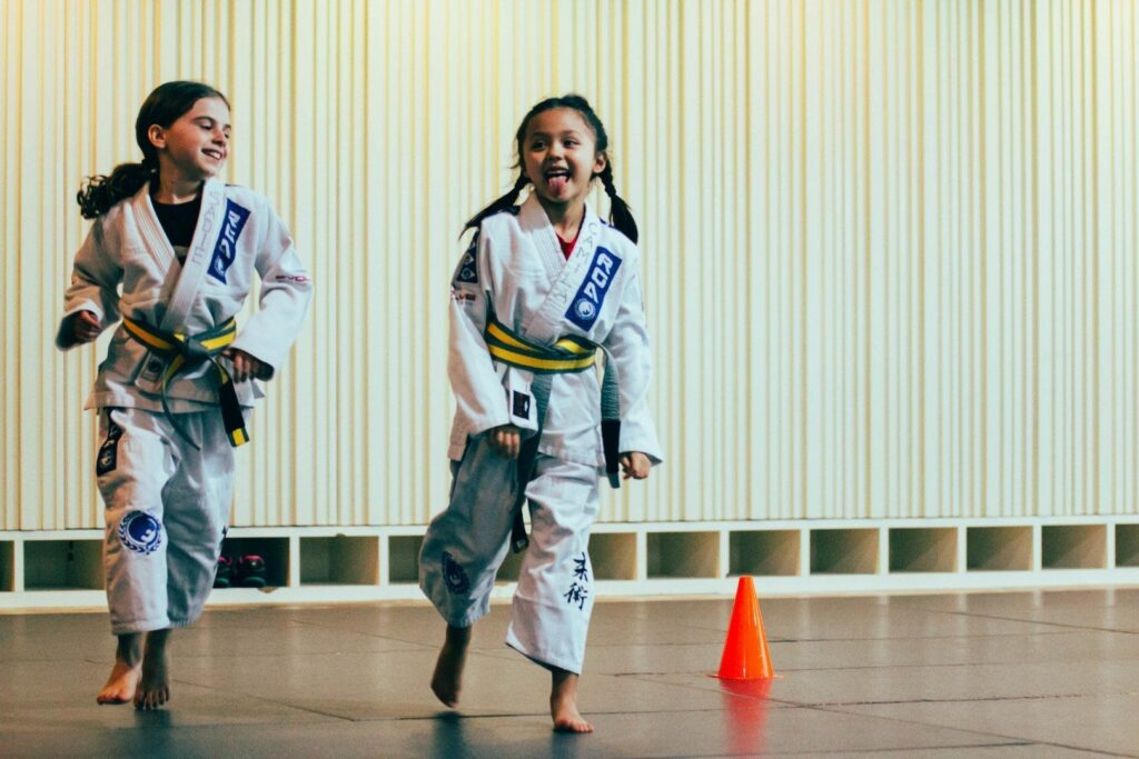 Martial arts gives children the satisfaction of learning and achieving, giving them the confidence to face any problem that comes their way.