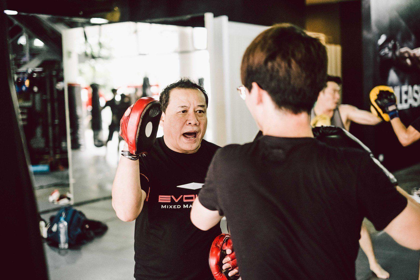 "Daorung ""Papa"" Sityodtong teaches boxing at Evolve MMA."
