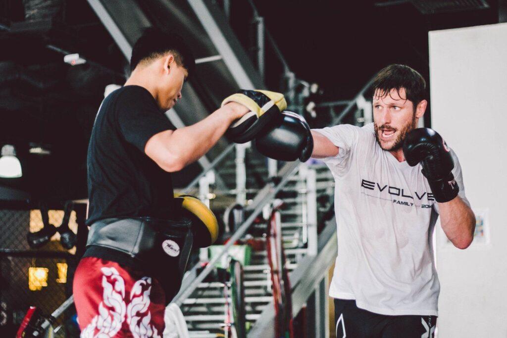 ONE Superstar Jake Butler trains at the Evolve Fighters Program.