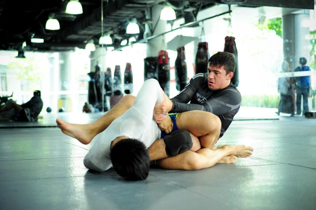 BJJ World Champion and ONE Superstar Bruno Pucci works on his ground game at the Evolve MMA Fighters Program.