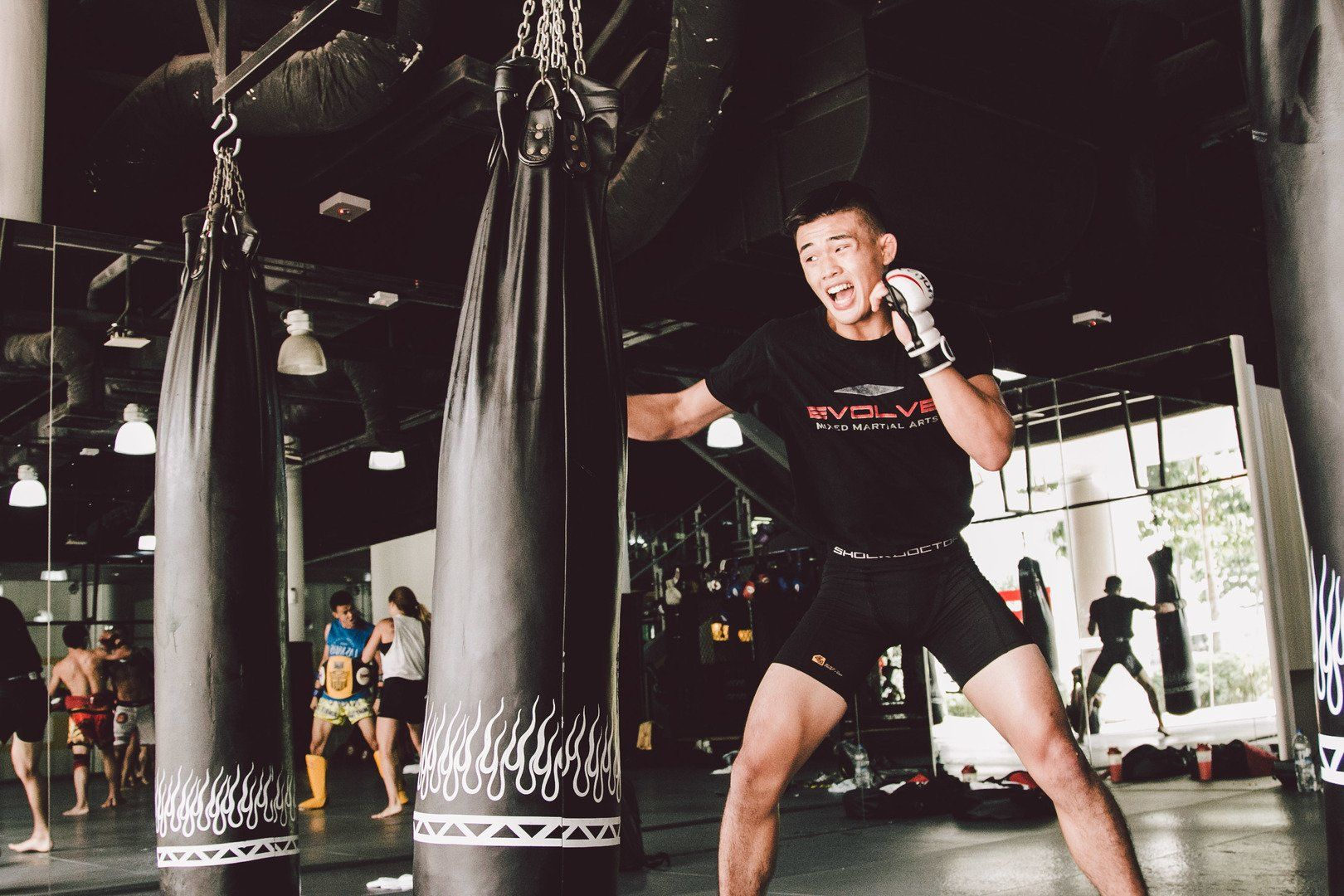 ONE Superstar Christian Lee trains at the Evolve Fighters Program.