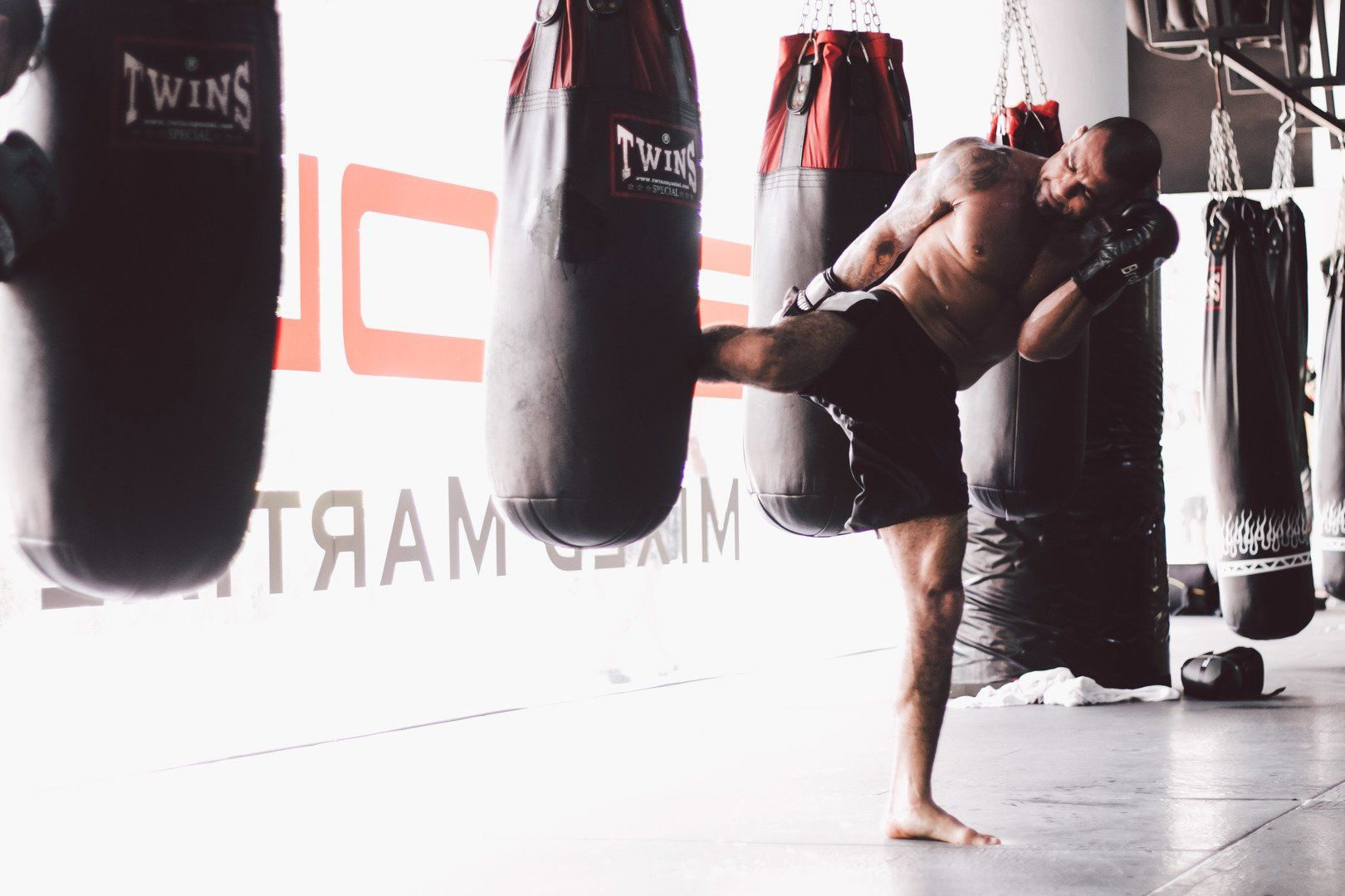 Training with a heavy bag sharpens your technique and builds strength.