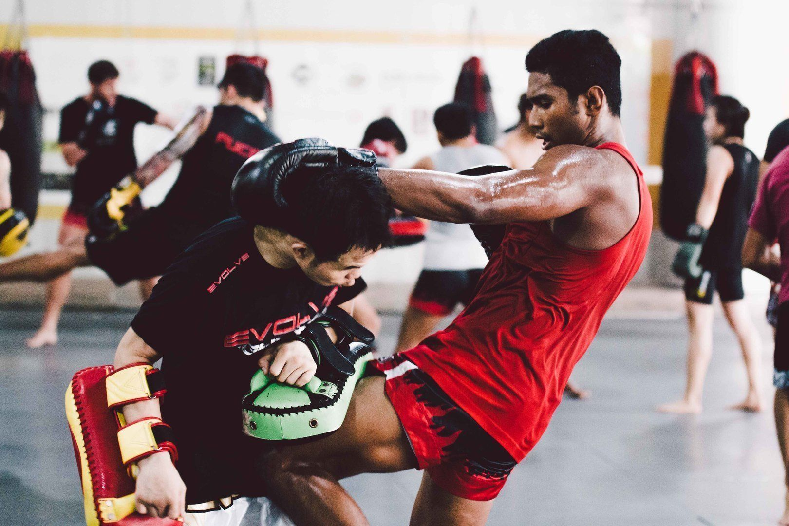 ONE Superstar Amir Khan trains hard at the Evolve Fighters Program.