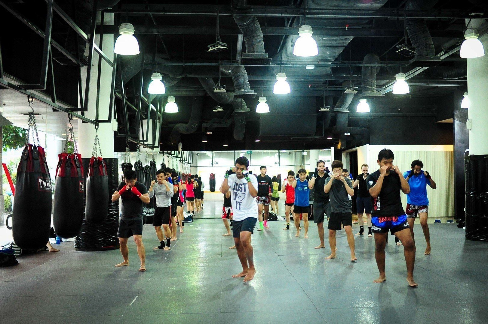 Shadowboxing is an important aspect of Muay Thai training.