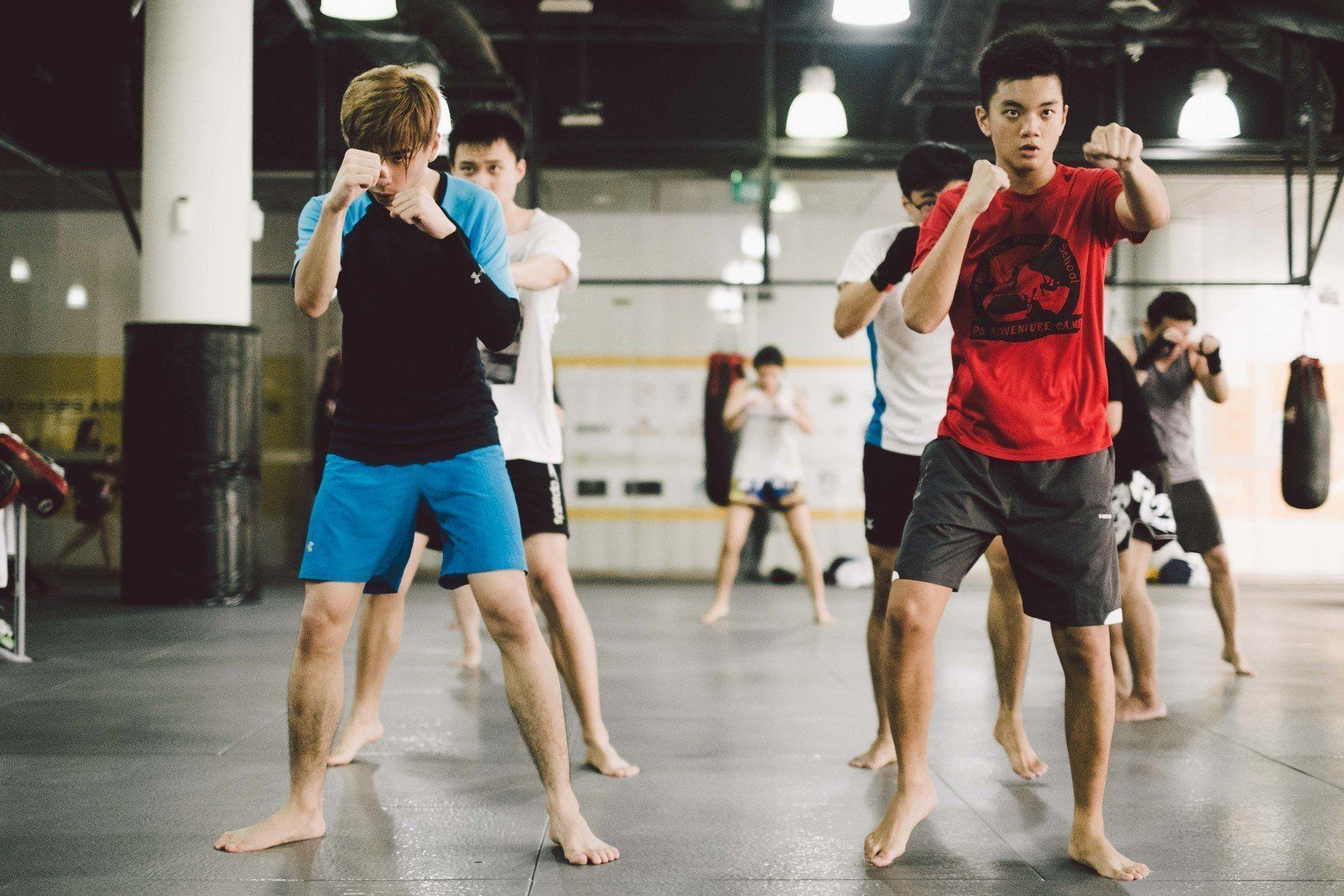 Shadowboxing improves your balance and coordination.