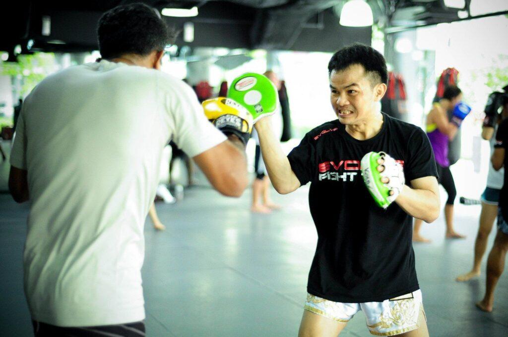 Multiple-time WBC Boxing World Champion Pongsaklek Wonjongkam teaches at Evolve MMA.