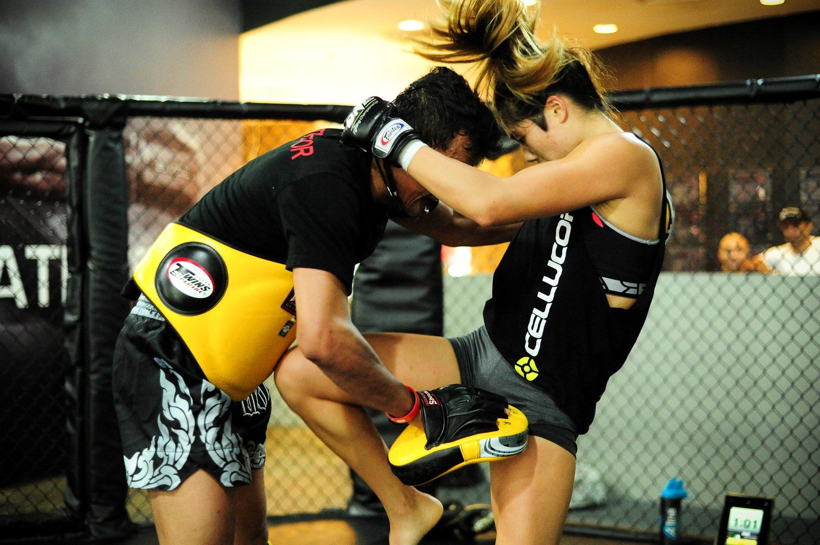 ONE Superstar Angela Lee trains hard at the Evolve Fighters Program.