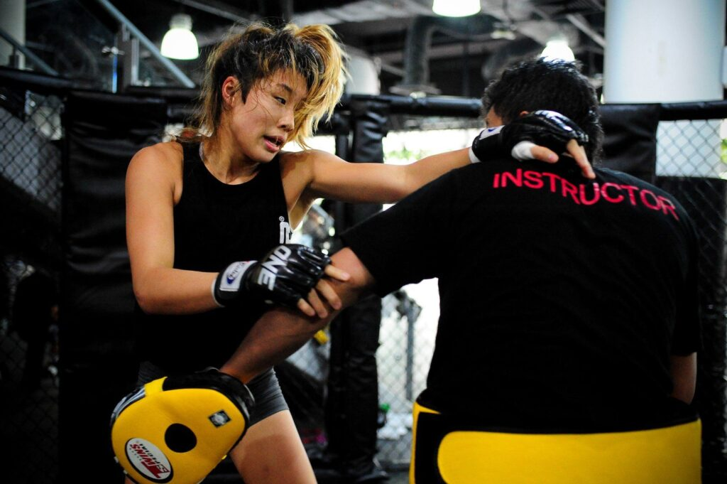 Angela Lee from the Evolve Fight Team