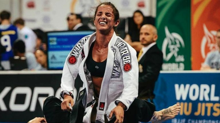 BJJ World Champion Angelica Galvao went back to training BJJ when her daughter was 4 years old.