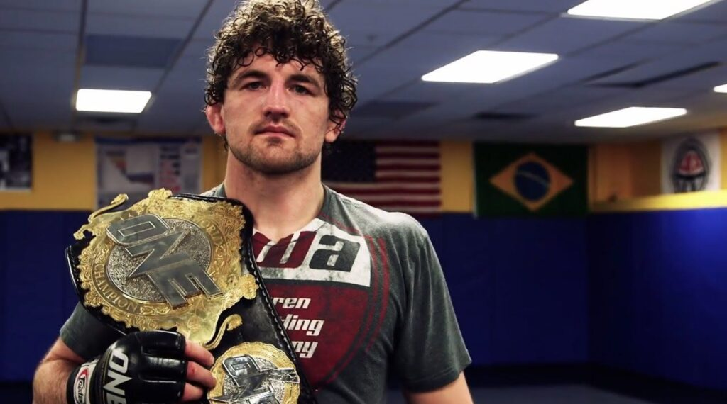 ONE Welterweight World Champion Ben Askren is a former amateur wrestler for the University of Missouri and part of the U.S. Olympic team.